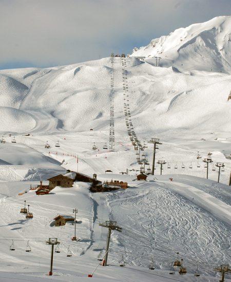 morning shot of the ski resort